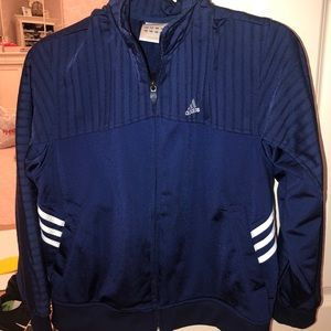 Navy Blue Adidas 3 Stipe Track Jacket